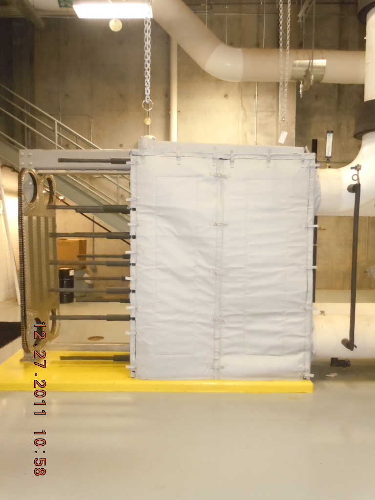 Plate and Frame Heat Exchanger Insulated by Thermaxx Jackets