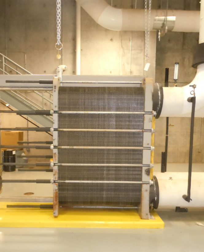 A Bare Plate and Frame Heat Exchanger