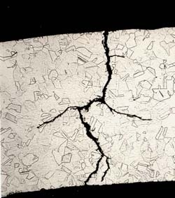 Cracks from stress corrosion can start out tiny.
