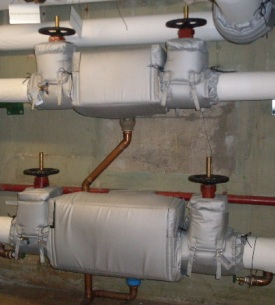 Insulated backflow preventers and gate valves