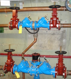 backflow preventers and gate valves
