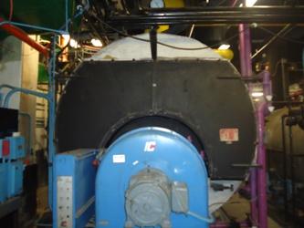 Un-insulated boiler door