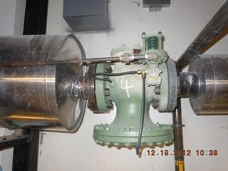 un-insulated Spirax pressure reducing valve
