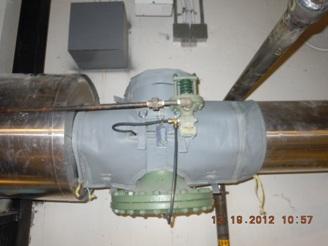 Insulated Spirax pressure reducing valve
