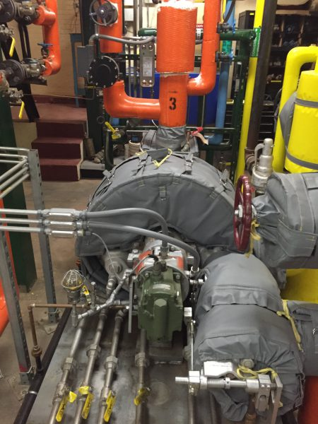 Steam Turbine Insulated by Thermaxx Jackets