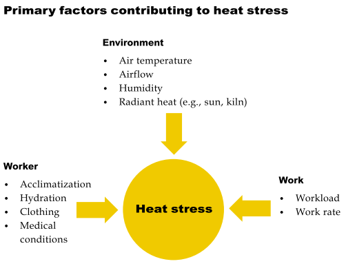 primary factors contributing to heat stress