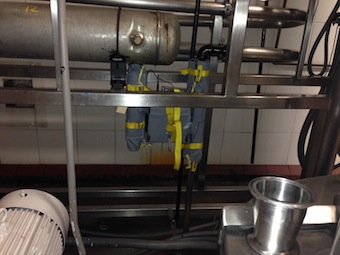 Insulated Steam Trap at Calabro Cheese Corp