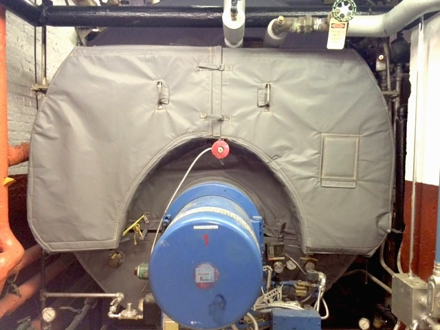 Boiler Insulated by Removable Thermaxx Jacket