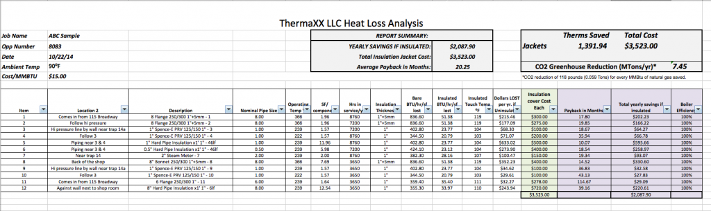 Heat Loss Analysis Workbook