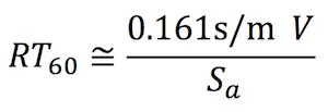 Sabine's Formula