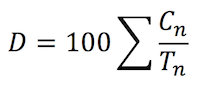 The following formula can be used to determine the percent dose for a day with different sound levels