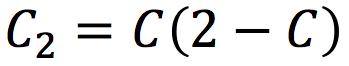 A mathematical formula