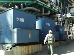 A sulfur-recovery compressor unit