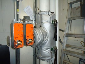 custom insulation on steam component