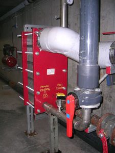 Plate and Frame Heat Exchanger at a swimming pool