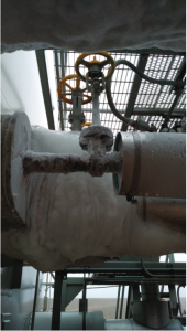 Ice Buildup on Cryogenic Component