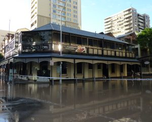 A Flood Damaged Building