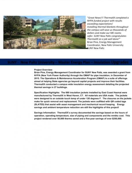 SUNY New Paltz Insulation Case Study Preview