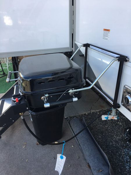 Uncovered RV Grill, posing danger to outside of vehicle