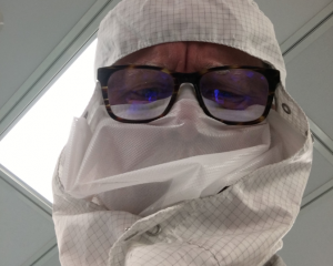 Insulation expert works in sterile environment