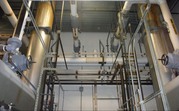 Insulation Jackets on Various Steam Pipe Components, Not process piping