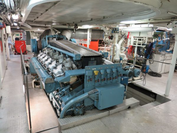 Engine Room On A Ferry