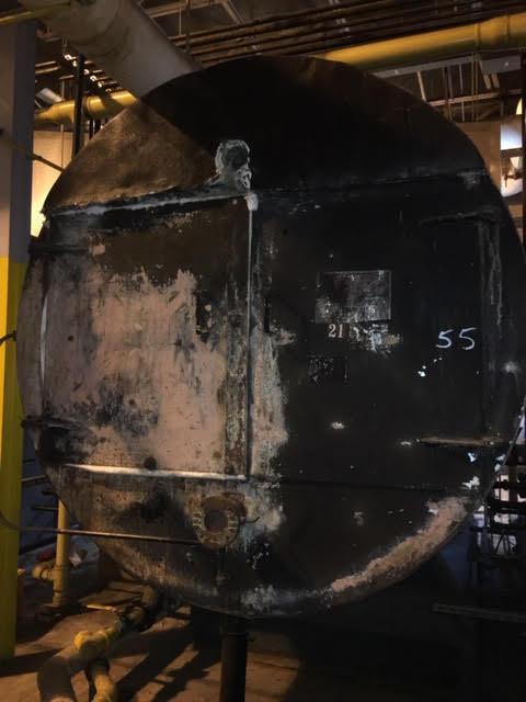 uninsulated boiler